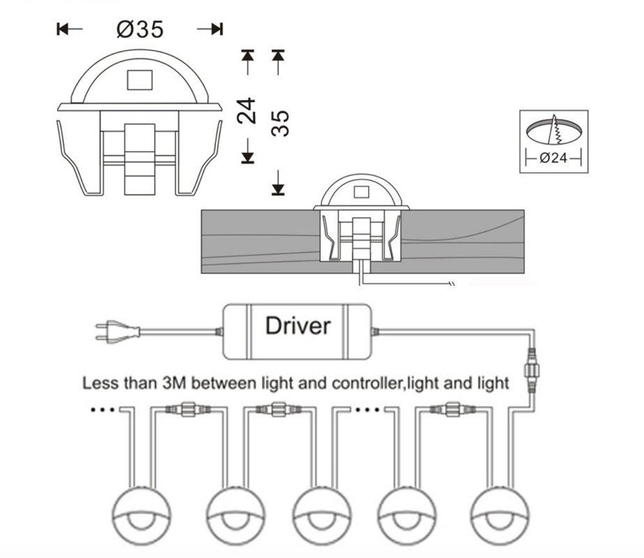0,4W LED Gaismeklis