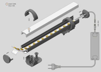 Alumīnija profils LED Lentām PEN8