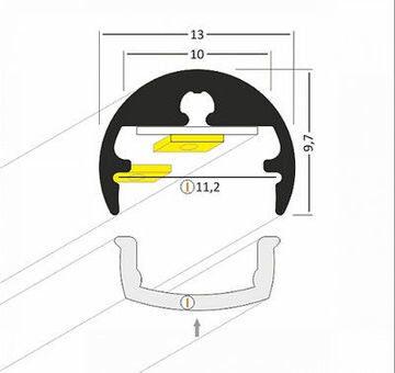 Sienas Alumīnija profils LED Lentām PEN8