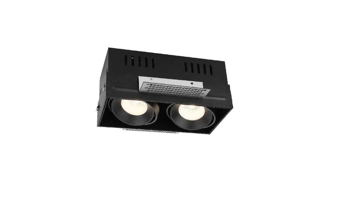2x15W Iešpaktelējams Trimless LED gaismeklis