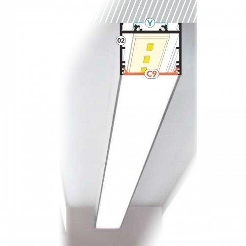 Alumīnija LED lentu profils VARIO-2