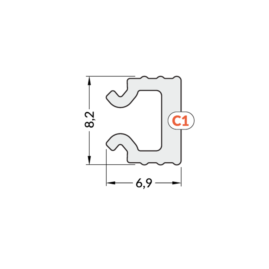 PC OPAL C1 Click Stikls LED lentu profilam