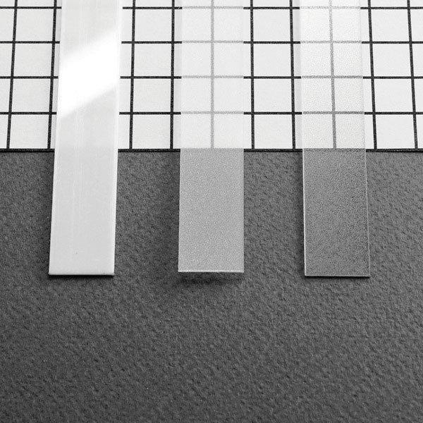 PC OPAL Stikls LED lentu profilam FLAT