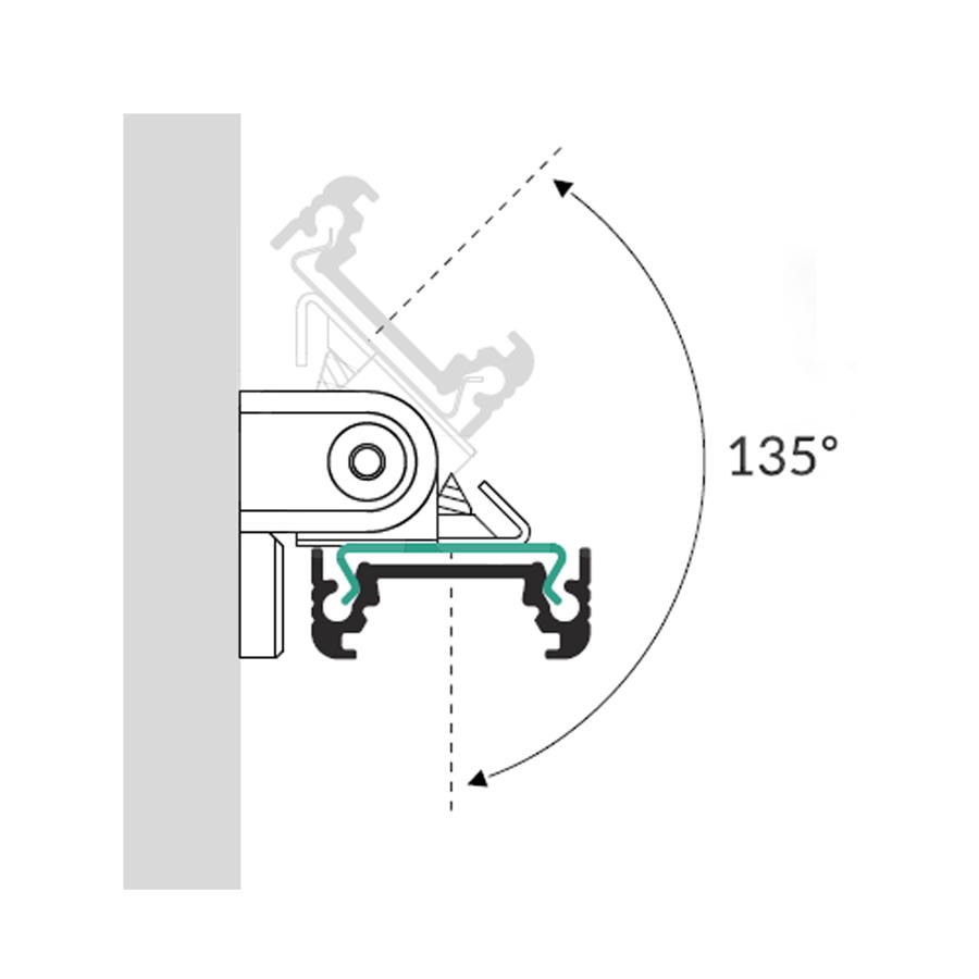 Alumīnija Profila stiprinājuma detaļa Eņģe
