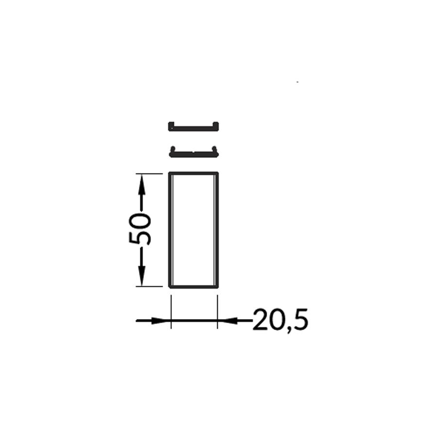 Cietā savienojošā detaļa Alumīnija profilam VARIO