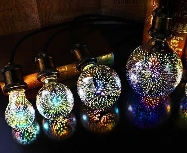 3D LED Spuldze E27