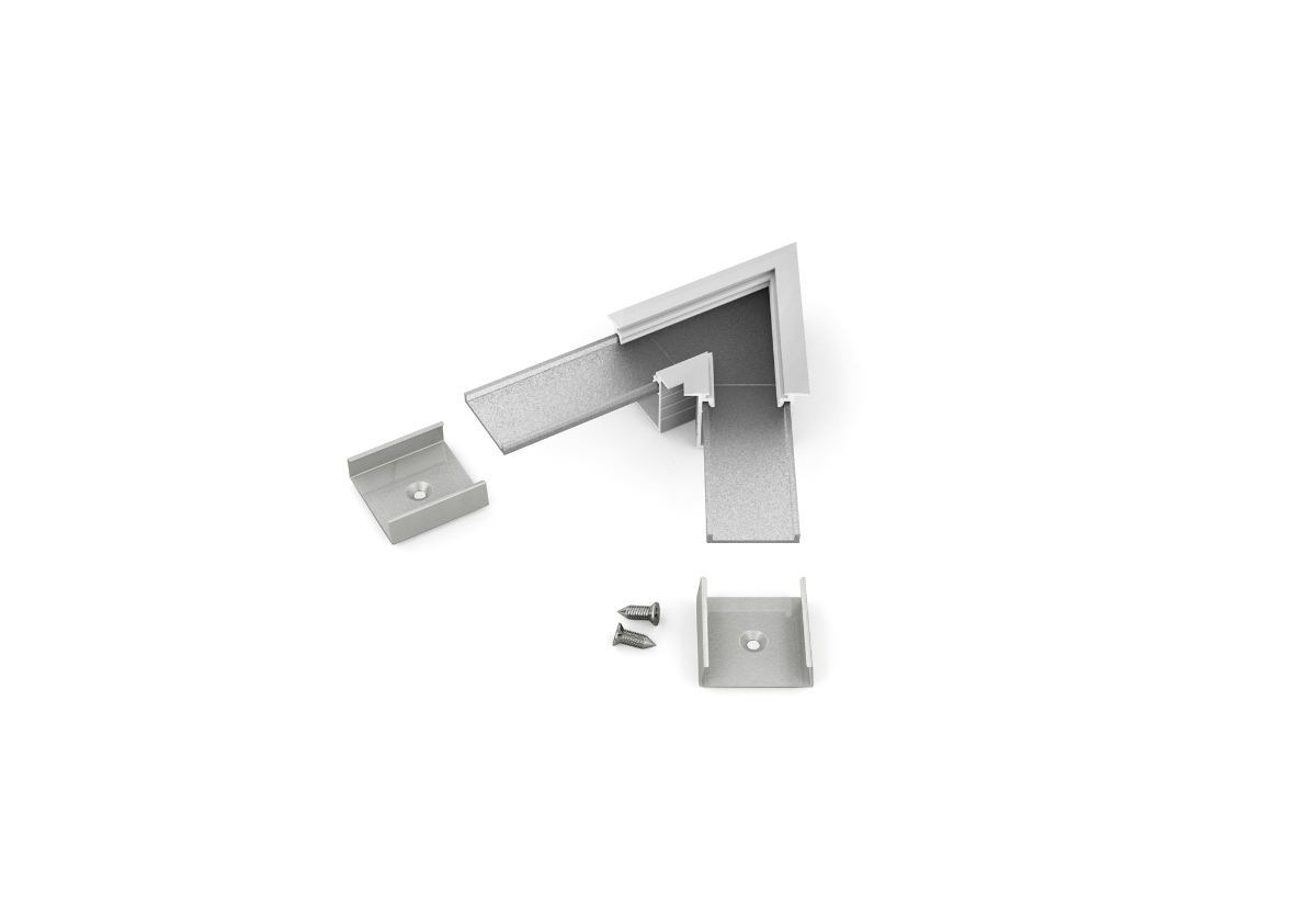 60° Horizontal corner connector for Aluminium profile LINEA20