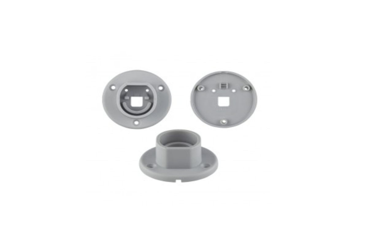 Wall mounting parts for LED strip profile OVAL