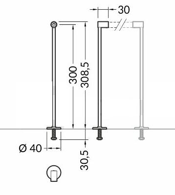 Alumīnija profila Iebūvēšanas stiprināšanas kājas