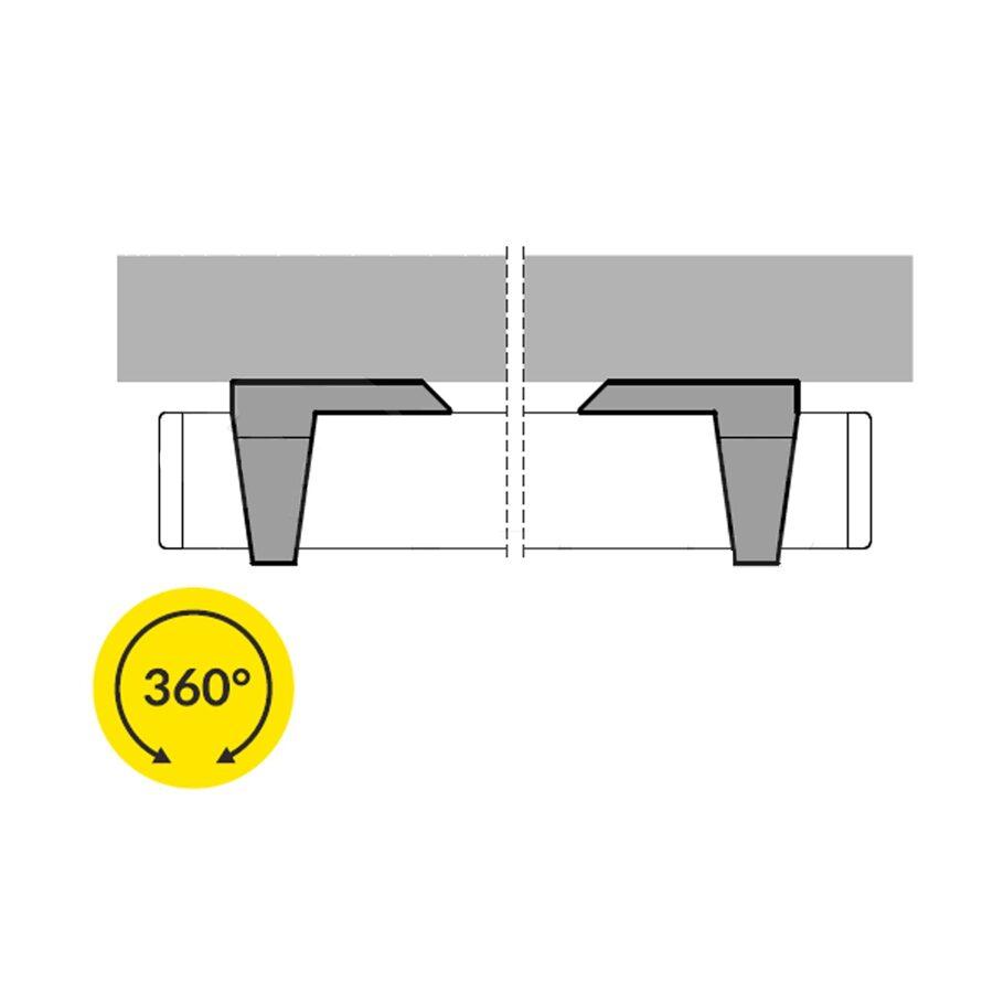 Alumīnija profila virsbūvēšanas detaļa