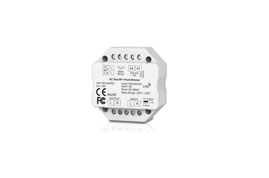 RF 1 zonas kontrolieris LED Lentām un gaismekļiem TB01