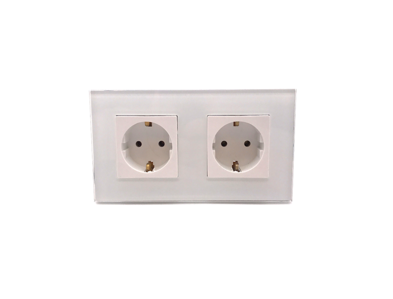 2 Gang glass socket
