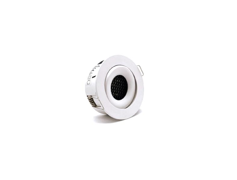 Regulējams 6W Iebūvējams LED gaismeklis ar pretabžilbināšanas filtru AIP-IF06