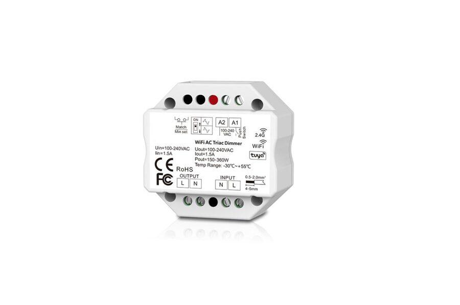 Wi-Fi/RF 1 zonas kontrolieris LED Lentām un gaismekļiem S01-B(WiFi)
