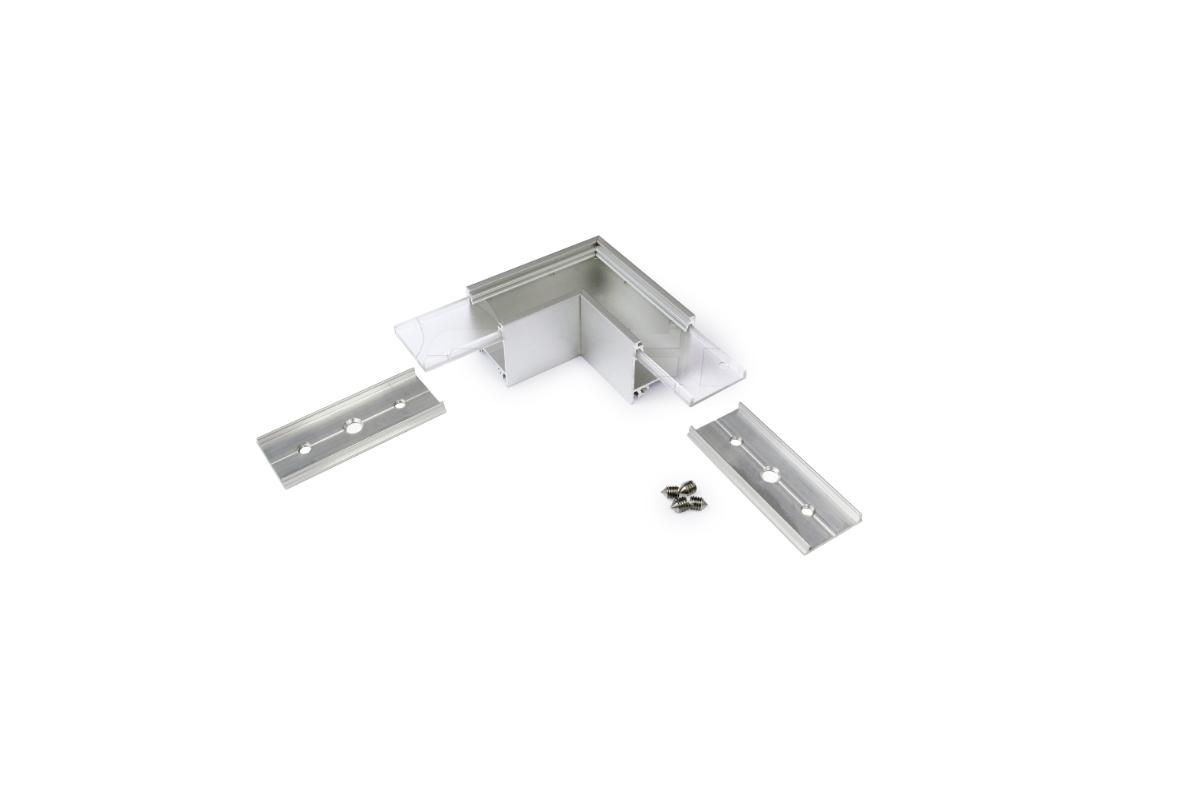 90° Horizontal corner connector for Aluminium profile LINEA20