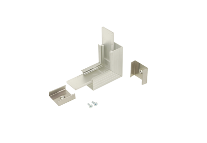 90° Vertical corner connector for Aluminium profile LINEA20
