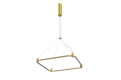 Suspended Magnetic Modular LED System AIP-SQUARE BRASS