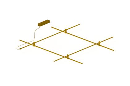 Piekarama Magnētiska Modulāra sistēma AIP-CUBE BRASS