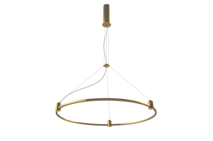 Suspended Magnetic Modular LED System AIP-ROUND BRASS