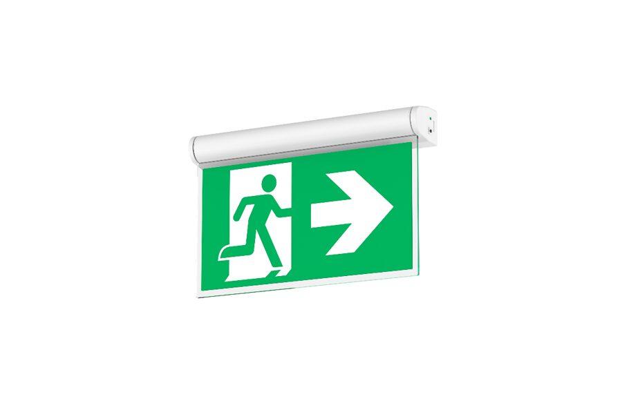 1W Avārijas izejas LED Gaismeklis Rotējams Griestu Sienas Piekarams