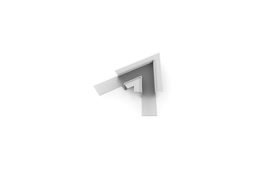 VARIO-5 Alumīnija profila LED Lentām leņķa detaļa 90°