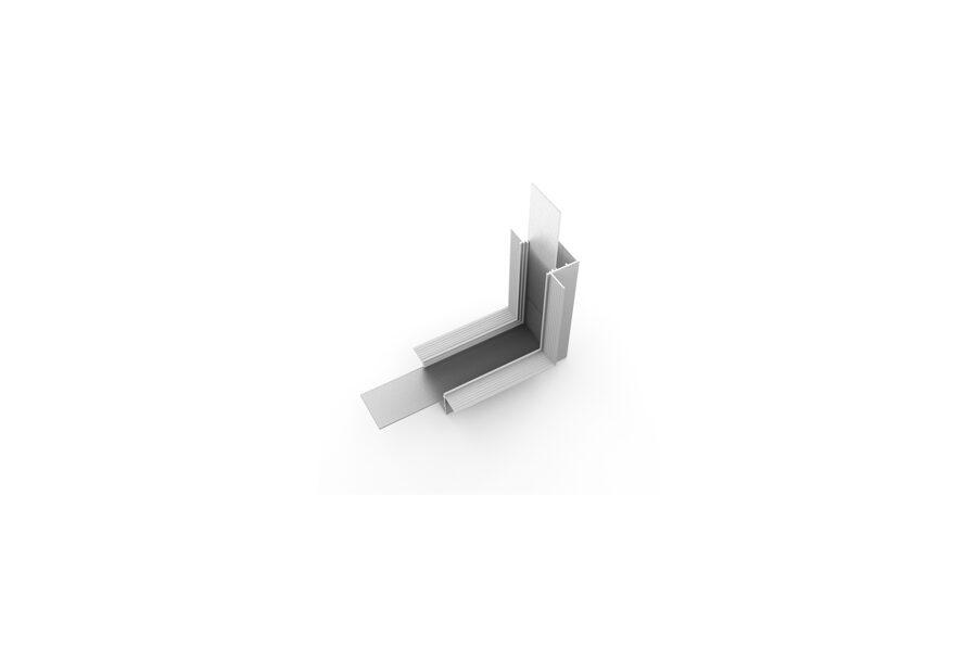 VARIO-5 Alumīnija profila LED Lentām leņķa detaļa 90° Vertikāls