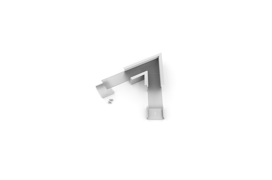 VARIO-7 Alumīnija profila LED Lentām leņķa detaļa 60°