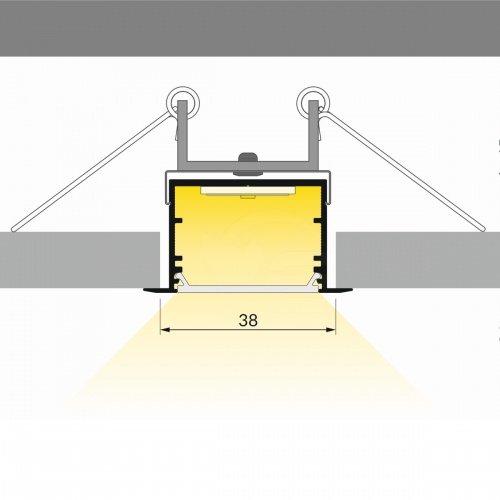 Alumīnija LED lentu profils VARIO-7