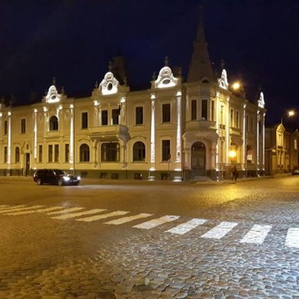 Court house of Ventspils facade lighting