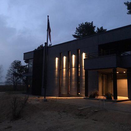 House Facade lighting in Baltezers