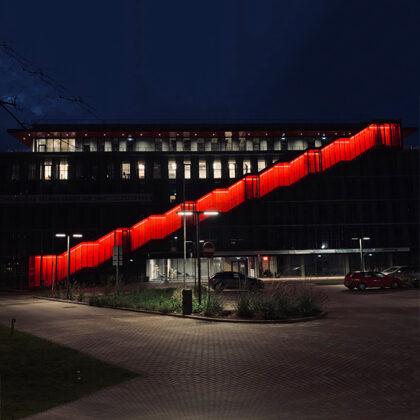 """Biroju ēkas """"RedLine"""" Teritorijas apgaismojums"""